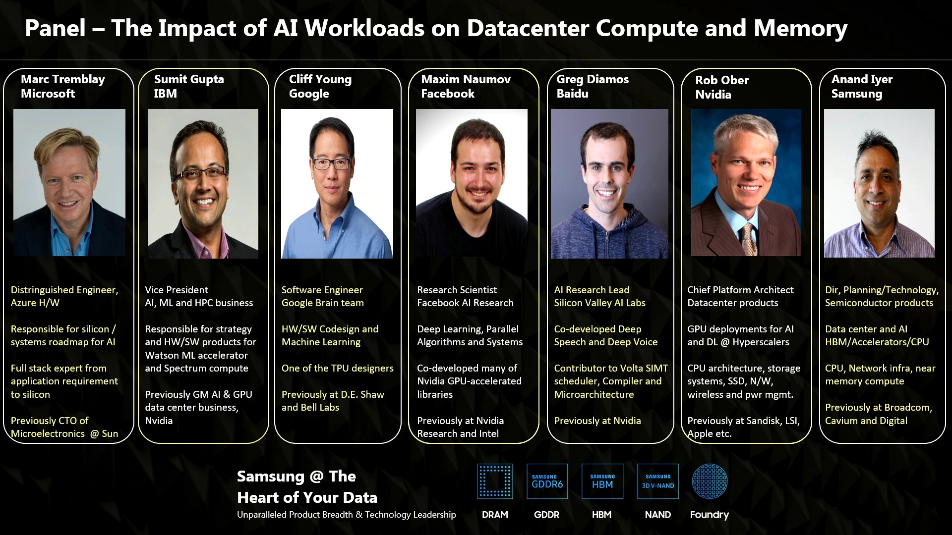 GTC Silicon Valley-2019: 6 Perspectives: The Impact of AI Workloads